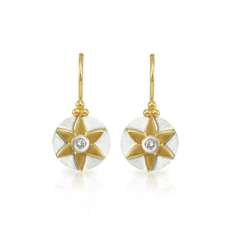 Star Daisy Diamond Earrings - Shop Scarab Jewellery online