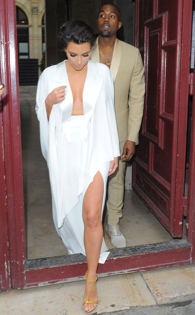Kim Kardashian & Kanye West from Kardashians in Paris: Wedding Week Fun! | E! OnlineThe couple stuns at their pre-wedding reception at Versailles.