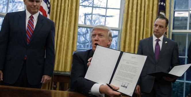 01-25-2017  It's Done: Trump Signs Executive Orders For Border Wall, More Federal Immigration Agents, And Targets Sanctuary Cities