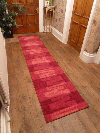 Via Veneto - Red Hallway Carpet Runner