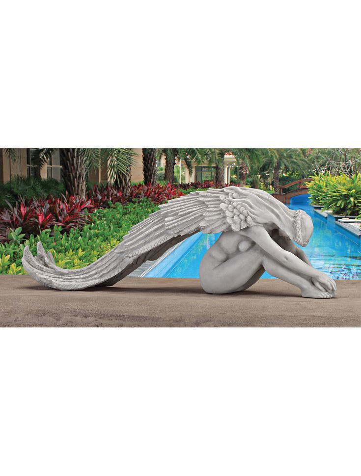 Graceful Angel Garden Statue | Gardener's Supply. Maybe for the pet cemetery. ..she looks so sad.