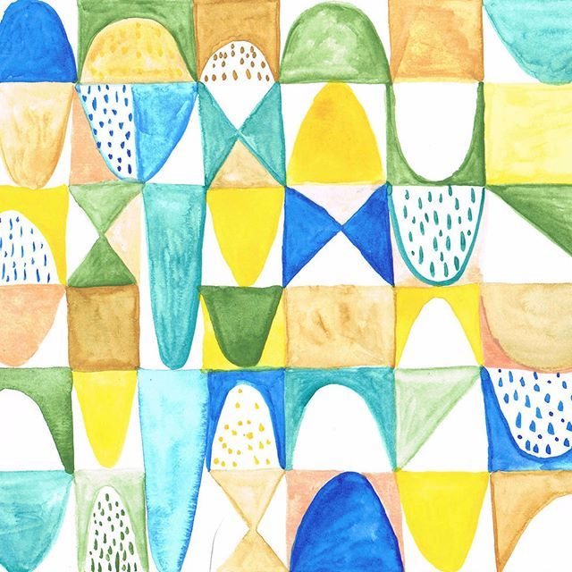 This is another design of the geometric serie.  #gatosyrinocerontes #surfacedesign #design #pattern #patterdesign #design #painting #handmade #watercolor #color #flower #nature