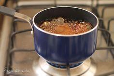 Panelaterapia - Molho Teriaki    Ingredientes: 2 colh (sp) de açúcar;1 colh (chá) gengibre ralado;2 colh (chá) de vinagre branco;2 colh (chá) de saquê culinário;10 colh (sp) de shoyu   Preparo: Misture todos os ingredientes e leve ao fogo baixo até ferver, reduzir e engrossar.