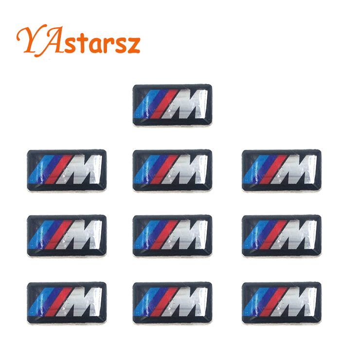 Mobil styling 10 PCS Tec Olahraga Roda Lencana 3D M Emblem Sticker Roda Decal Fit untuk BMW M1 M3 M5 M6 X1 X2 X3 (0.71*0.39 inch)