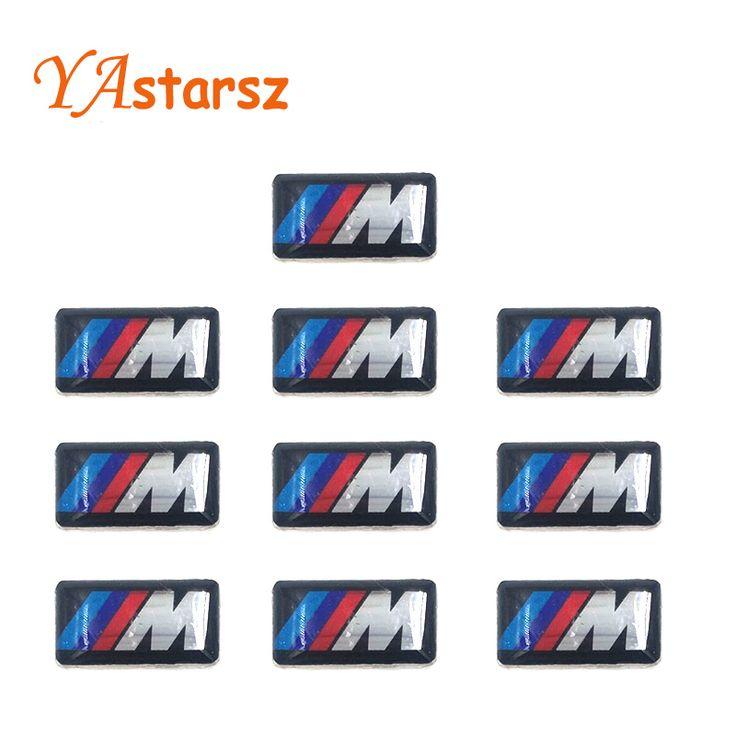 Araba styling 10 ADET Tec Spor Tekerlek Rozeti 3D M Amblem Sticker Tekerlek çıkartması Fit BMW X1 X2 X3 M1 M3 M5 M6 (0.71*0.39 inç)
