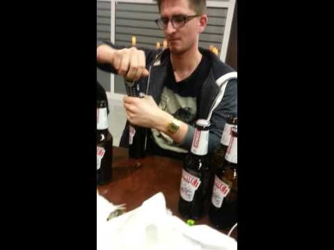 how to open a beer with a watch