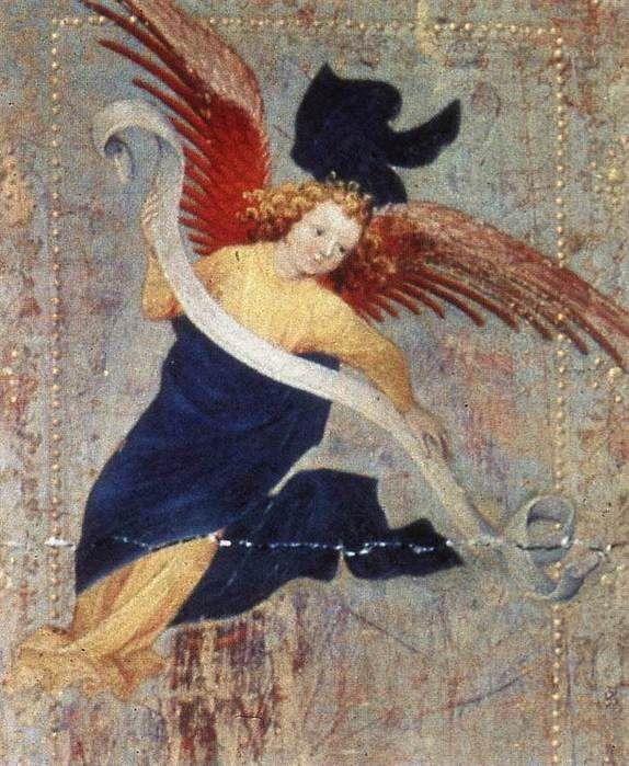 Брудерлам, Мельхиор (BROEDERLAM, Melchior) (Ок. 1328—1409) - (деталь створки Дижонского алтаря) .