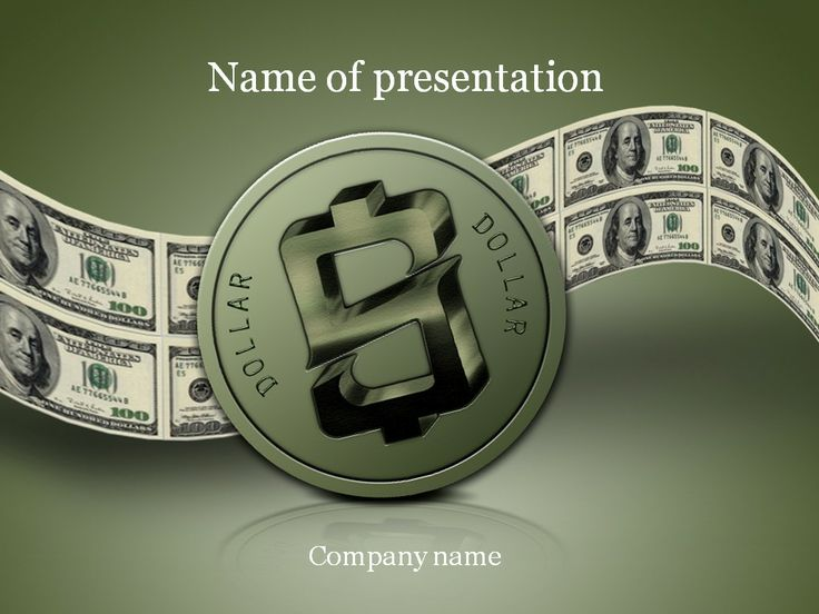 Dollar PowerPoint Template Templates Pinterest Template - winter powerpoint template