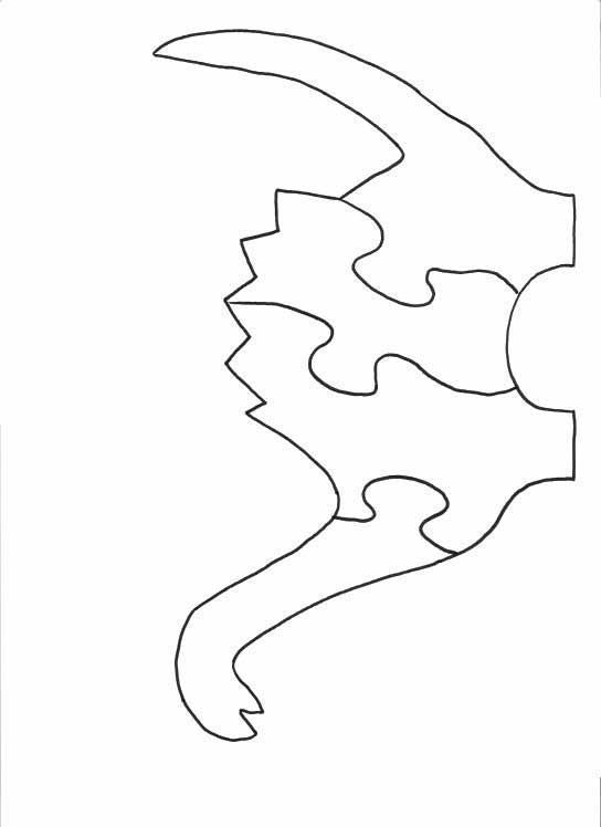 printable dinosaur pattern   Wood Pattern for a Dinosaur Puzzle - 2 Dimensional Puzzle