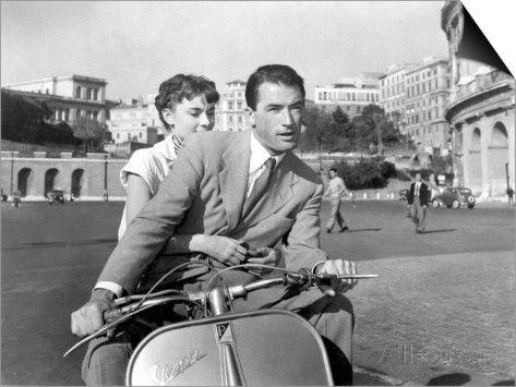 Roman Holiday, Audrey Hepburn, Gregory Peck, 1953 SwitchArt™ Print