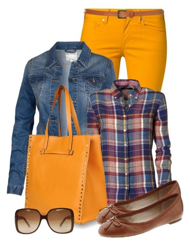 """""""Sunny Sunday"""" by elenh2005 ❤ liked on Polyvore featuring Levi's Made & Crafted, Fat Face, GANT, Valentino, Banana Republic, Topshop and Gucci"""