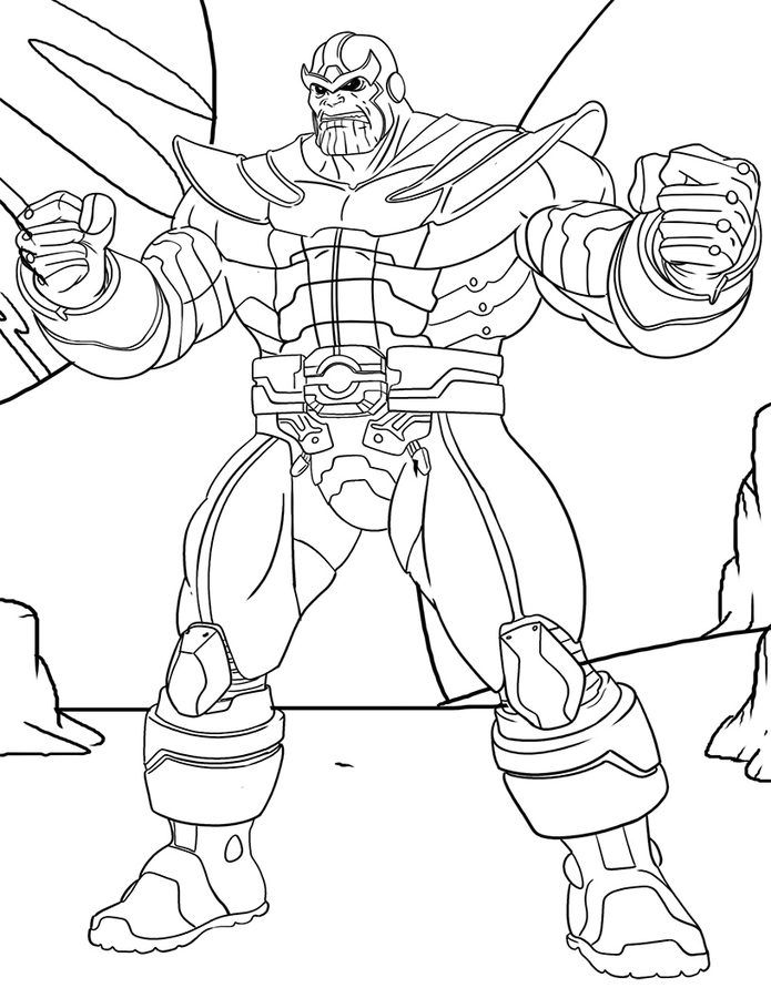 Thanos printable coloring pages ~ Thanos | dibujos | Dibujos, Dibujos para colorear y ...