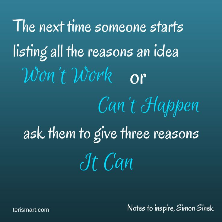 Sometimes in schools we hear all the reasons why something won't work, this actually makes you stop and think what if it did!  Simon Sinek Quote