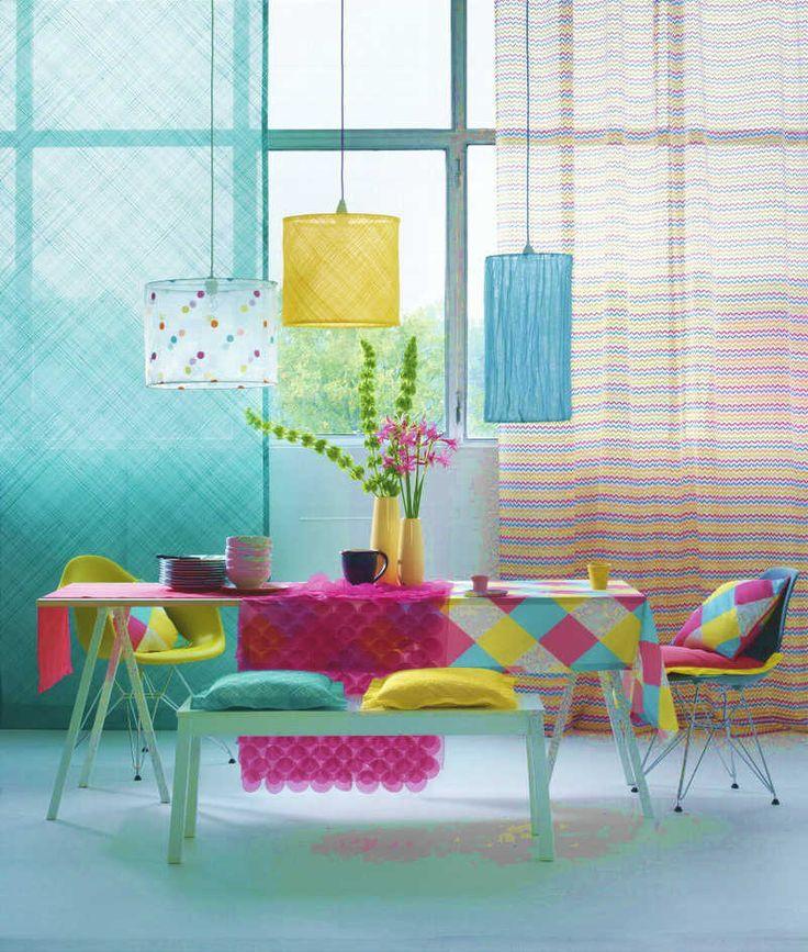 салон штор АВС Стиль-Комфорт дизайн студия Стиль-Комфорт текстильный декор интерьера желтый и синий голубой цвет в итентьере сочетание синего голубого и желтого цвета в интерьере - Салон штор АВС и Стиль&Комфорт, Студия Дизайна Интерьера