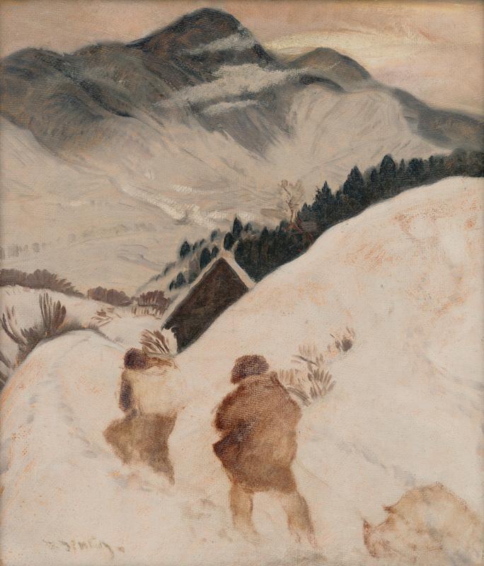 Zima / Winter, ca 1920, Martin Benka. Slovak (1888 - 1971) - Oil on Canvas - Via: Web umenia