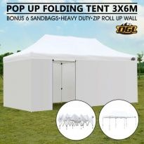 OGL 3x6M Pop Up Outdoor Folding Marquee Gazebo Party Tent White
