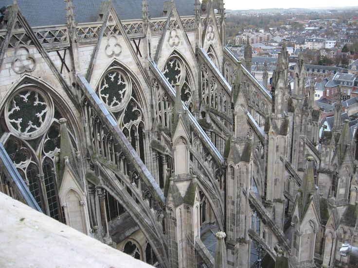 Gothic architecture window windows and buttresses of the - Best 25 Cathedrale Amiens Ideas On Pinterest Amiens