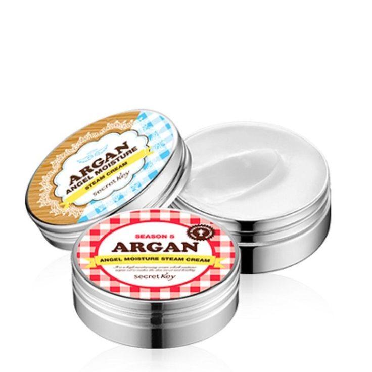Secret key Argan Angel Moisture Steam Cream 80g*2pcs Moisturizers Face #Secretkey