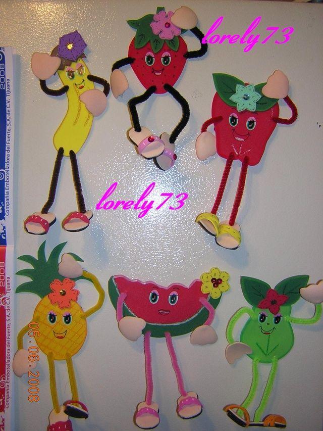 Moldes de frutas para hacer en foami - Imagui