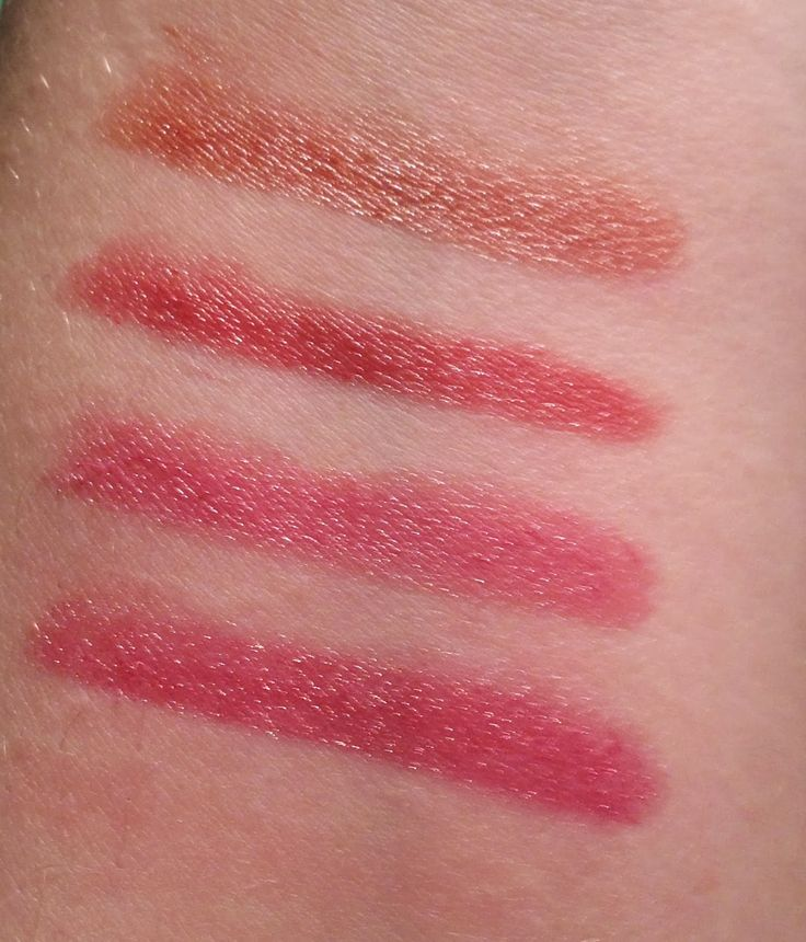Swatches from Annabelle Cosmetics TwistUp Retractable Lipstick Crayon - Trendy Basics  http://faestina.blogspot.ca/2013/10/annabelle-cosmetics-twistup-retractable_7942.html