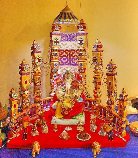 186 best ganpati decoration ideas images on pinterest for Decoration ganpati