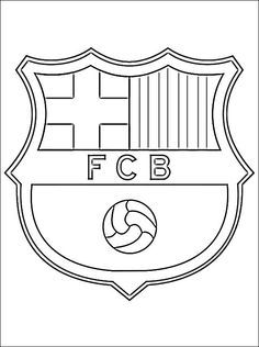 soccer coloring pages | Coloring page with logo of Barcelona football club. Free printable ...