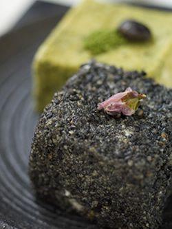 """三之助豆腐の""""おはぎ風""""   OHAGI type of Minosuke tofu."""
