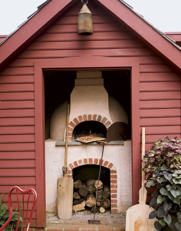 outdoor wood-fire oven
