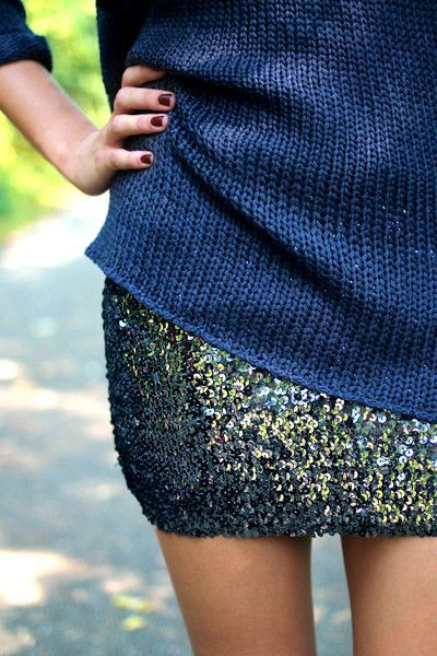 Sweaters + sequins...