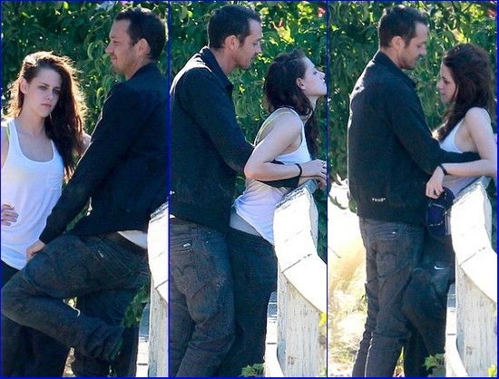 Kristen Stewart doing it in public, Kristen Stewart Cheated On Robert Pattinson With 'SWATH' Director Rupert Sanders.