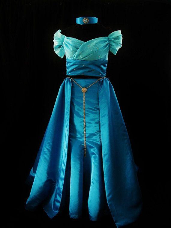 Adult Designer Series Jasmine Costume Custom Made - Neverbug Creations