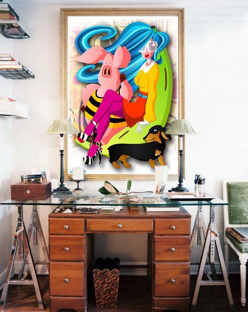 DOWNLOAD ISTANTANEO. Poster Potassium colori Arte di julioroberts