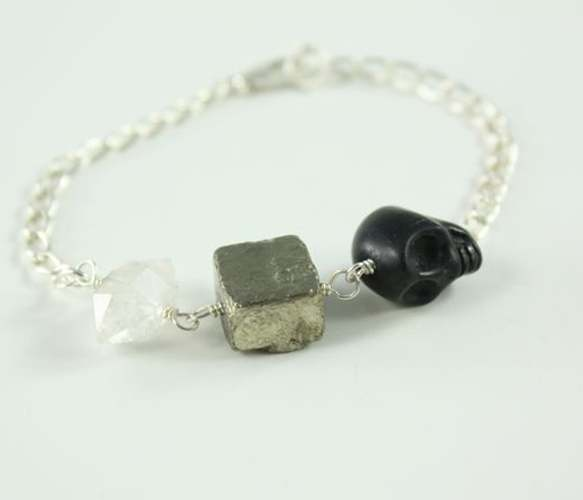 Pyrite Pirate Bracelet Uncovet I want this just because of it's name