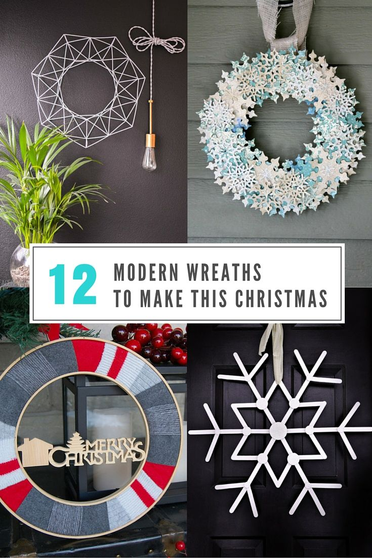 Holiday wreaths can be a pretty daunting task to tackle, so we've found 12 modern Christmas wreaths that are easy to make with understandable instructions, and the end result will look great on your front door, or inside as part of your overall holiday decor.