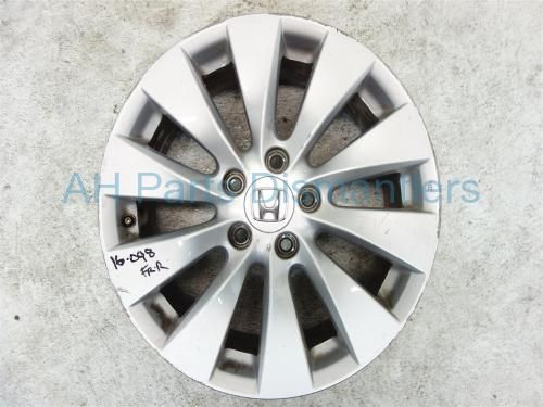 """Used 2013 Honda Accord Front passenger WHEEL/RIM, 17"""" 10 SPOKE  42700-T2A-A91 42700T2AA91. Purchase from https://ahparts.com/buy-used/2013-Honda-Accord-Front-passenger-WHEEL-RIM-17-10-SPOKE-42700-T2A-A91-42700T2AA91/115601-1?utm_source=pinterest"""