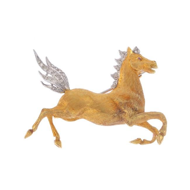 www.liveauctioneers.com item 52002742_a-diamond-horse-brooch-the-galloping-horse-with