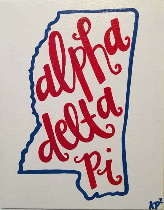 Custom Sorority College/State Canvas by KimberlyPaigePorter
