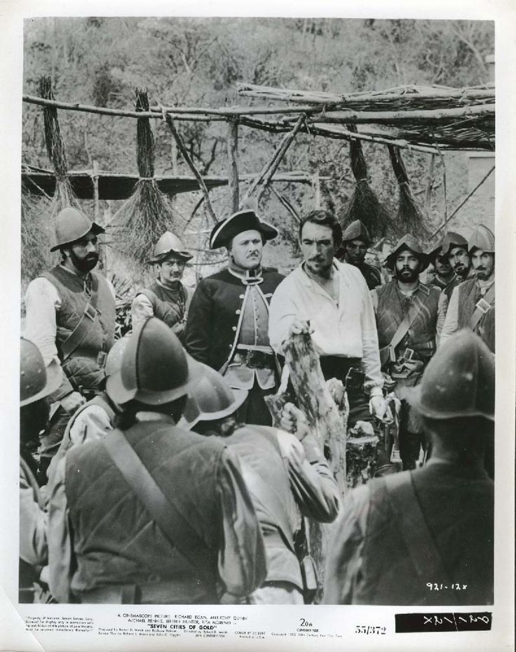Anthony Quinn crowd Seven Cities of Gold 8x10 1955