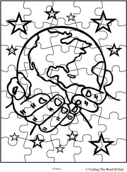 God Creates The Universe Coloring Page