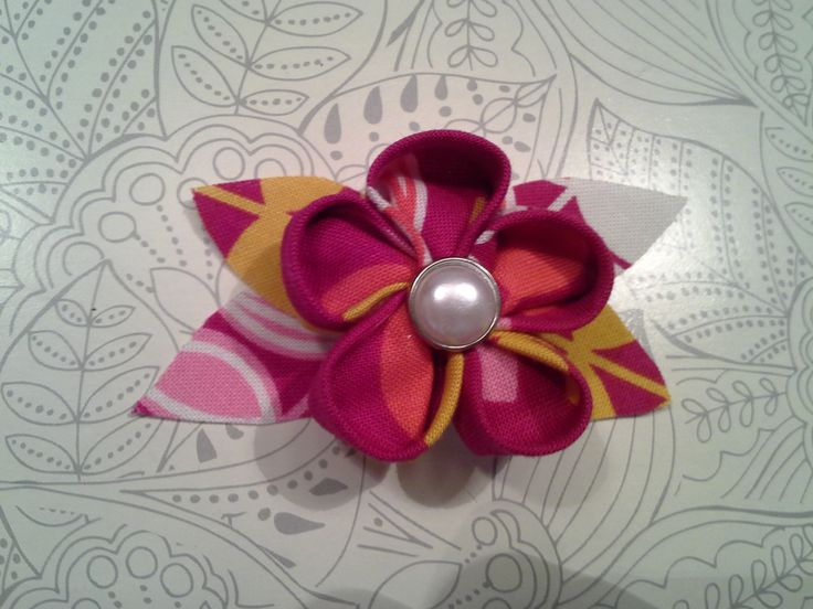 17 best origami flowers images on pinterest fabric origami origami fabric flowers with buttons mightylinksfo