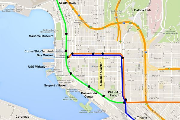 San go Trolley Lines and Stops in 2019 | San go travel ... San Go Trolley Route Map on school bus route map, light rail route map, people mover route map, st. charles streetcar route map, septa bus route map, monorail route map, honolulu bus route map,