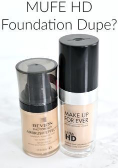 MUFE HD Foundation Dupe, Makeup Forever Ultra HD Foundation Dupe, Dupes for High End Makeup, Revlon Airbrush Effect Review, Drugstore Dupes for High End Makeup,