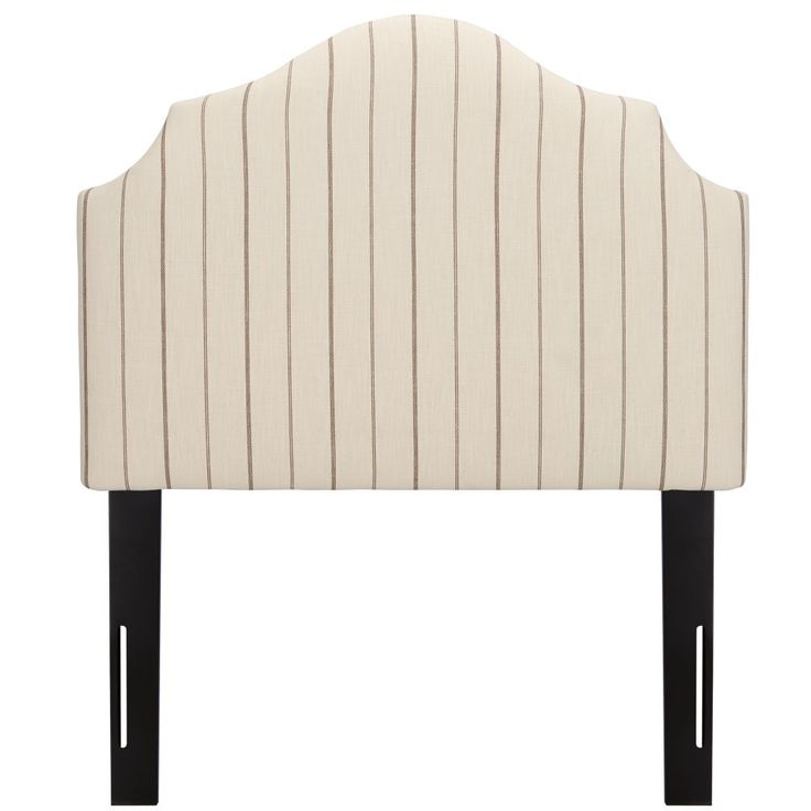 Shop Twin Arched Headboard (Fritz Charcoal).  We've done the unthinkable with our upholstered headboard collection.  If our research is correct, when you add one of our upholstered headboards to a kids bed and ask them to make it, they often say thank you.
