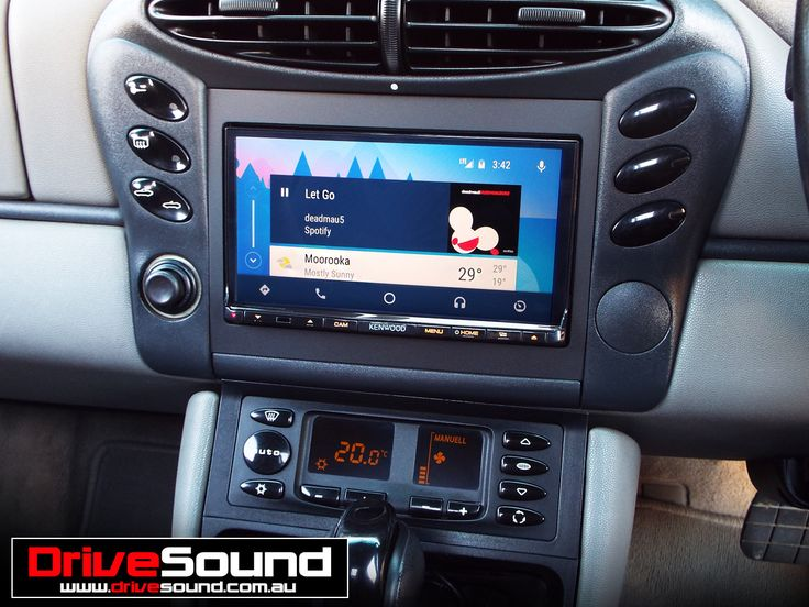 Porsche Boxster with Android Auto installed by DriveSound.