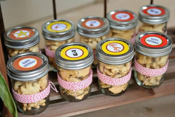 Adorable party favors at an Antique Vintage Farm birthday Party via Kara's Party Ideas |