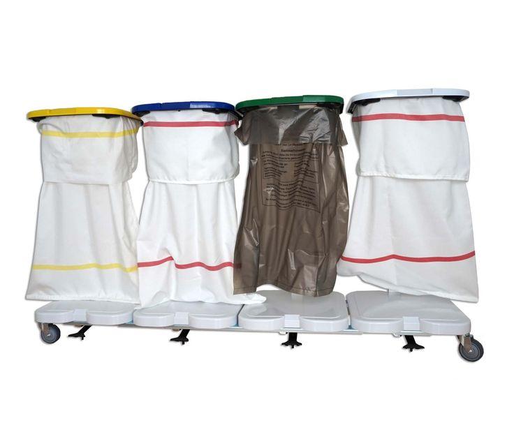 GTARDO.DE:  Wäschewagen 4-fach, mit Deckel und 4 Säcken 542,00 €