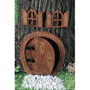 Gnome home doors and windows for any tree fairyland for Gnome doors for trees