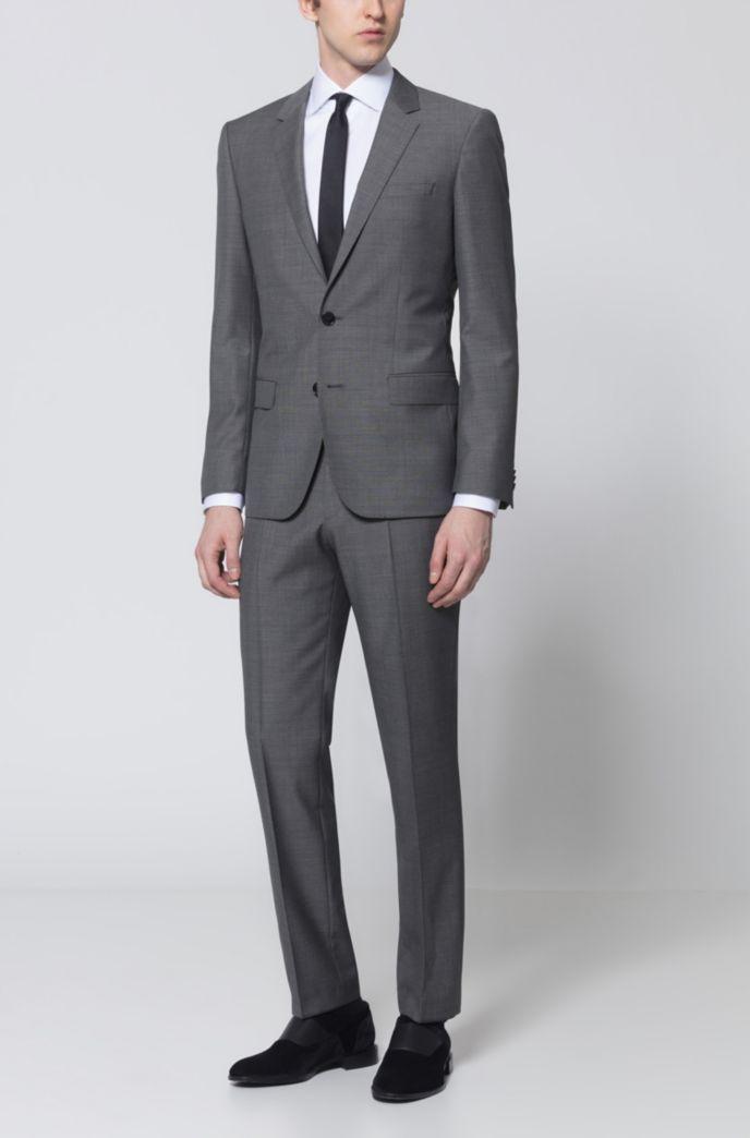 Hugo Boss Slim-fit suit in micro-pattern virgin wool - Light Blue Business 0bf86b9fde0