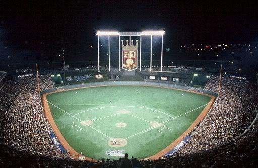 Kauffman Stadium circa 1985, during the World Series ...