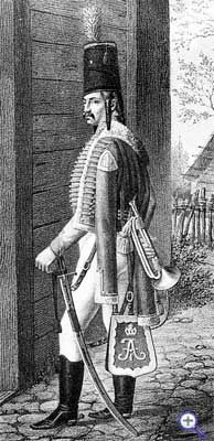 Трубач Сумского гусарского полка 1802-1803 годы.